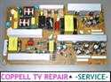 Picture of REPAIR SERVICE FOR LG 37LC46, LG 37LF66, LG 37LB4D POWER SUPPLY BOARD - DEAD TV, NO POWER OR POWER OFF PROBLEM
