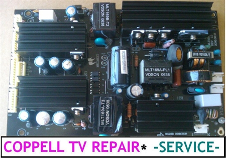 Picture of AKAI LCT3201AD POWER SUPPLY BOARD REPAIR SERVICE - NO POWER OR SHUT OFF