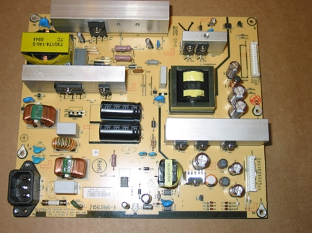 Picture of Repair service for INSIGNIA NS-L42X-10A, Vizio VT470M power supply ADTV92427AA2 / 715G3196-1 causing dead or failing to start TV