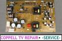 Picture of Repair service for Philips power supply board 310432848913 / 310431361715 for TV not powering on problem