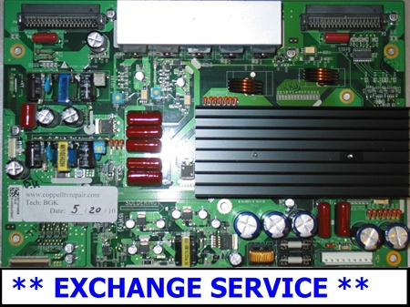 Picture of EXCHANGE SERVICE FOR YSUS BOARD 1032298-HS FOR HP PL4260N PLASMA TV