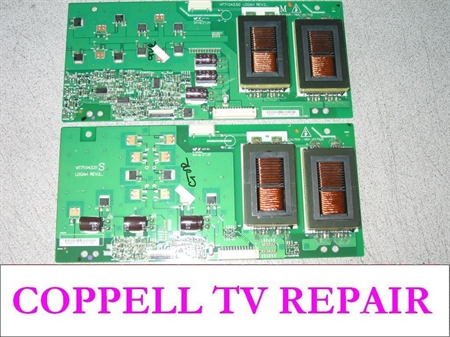 Picture of 19.26006.377 and 19.26006.379 backlight inverters replacement for dark screen, no image problem