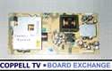 Picture of SANYO DP26648 power supply board exchange - buy now, send your old dud to get credit