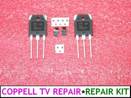 Picture of BN44-00161A POWER SUPPLY BOARD REPAIR KIT Vs TRACT FQA13N50CF