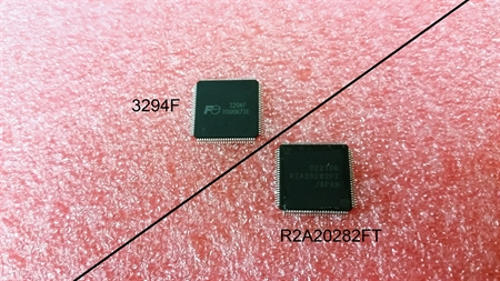 Picture of 2A20282A / 3294F output buffer IC for Hitachi plasma TV SU SD boards