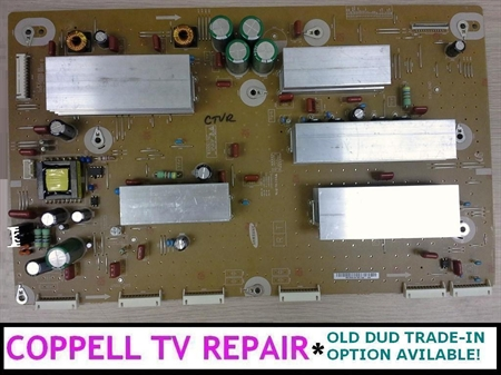 Picture of BN96-22115A / LJ92-01859A /  LJ41-10162A Samsung Y-Main board - upgraded, tested, $50 credit for old dud